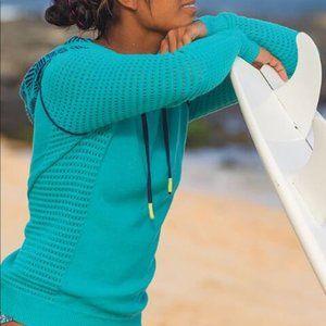Title nine open knit dekker beach sweater size L
